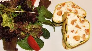 Kalorienarm und fein: Hüttenkäseterrine mit Eierschwämmli