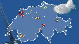 Die Windenergieanlagen in der Schweiz