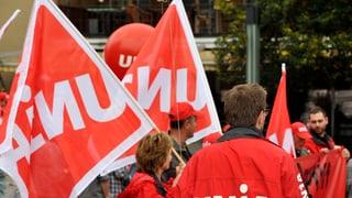 Roche-Turm: Polizei bei der Gewerkschaft Unia