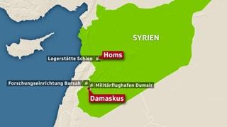 Das waren die Ziele der Luftschläge in Syrien