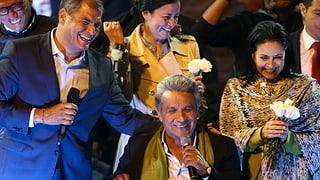 Der Linke Lenin Moreno wird Präsident