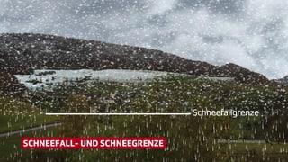 Unterschied Schnee- und Schneefallgrenze