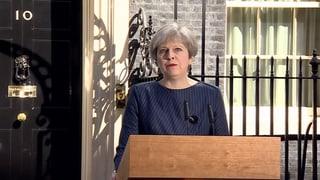 Britische Premierministerin kündigt Neuwahlen an