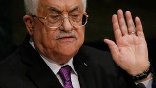 Palästinenser-Präsident Abbas kündigt Friedensprozess auf