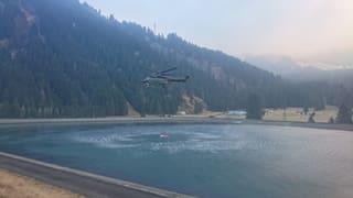 Incendi en Val Mesauc: La situaziun resta privlusa