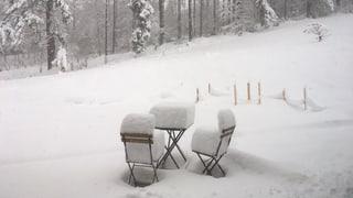 St. Gallen: Noch nie so spät soviel Schnee