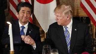 Trump und Abe wollen Handelsgespräche intensivieren