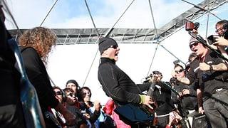 Metallica heizen in der Antarktis ein