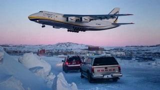 Diese Antonov hilft der Swiss in der Arktis