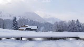 Der meteorologische Winteranfang brachte tiefverschneite Landschaften.