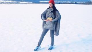 Nackte Fesseln im Schnee: Ade!