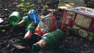 Bierflasche wegwerfen soll im Aargau 100 Franken kosten