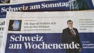Prima ediziun da la 'Schweiz am Wochenende'