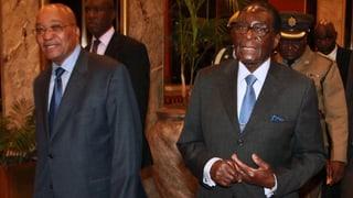 Einzig Südafrika erkennt Mugabes Sieg an