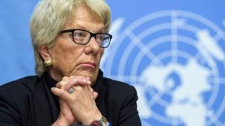 Carla del Ponte banduna cumissiun da l'ONU per la Siria