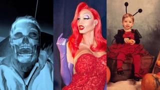Gruselig bis süss: Prominente im Halloween-Fieber