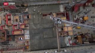 Roche Turm wächst alle zwei Wochen um eine Etage