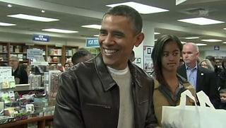 Bücherwurm: Präsident Obama auf Einkaufstour
