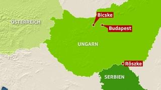 Ungarn und die Flüchtlinge - die Brennpunkte