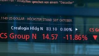 Börse straft CS-Aktie gnadenlos ab