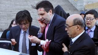 US-Botschafter in Südkorea mit Rasierklinge verletzt