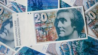 Einige Banknoten finden den Heimweg nie