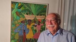 Haiti: Tenor Rolf Maibach suonda suenter l'orcan la colera