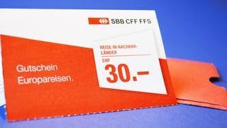 Schrumpfende SBB-Gutscheine: Es gibt gute Alternativen