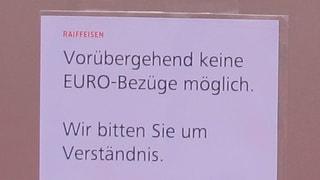 Ostschweizer stürzen sich auf Euro-Noten