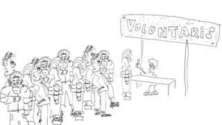Stuì dir giu a passa 700 voluntaris