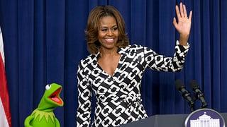 Kermit mag Michelle Obama lieber als Miss Piggy