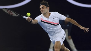Federer in Rotterdam am Start