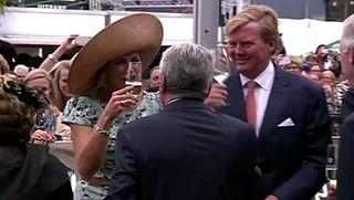 «Gezondheid!»: Willem-Alexander und Máxima feiern ihr Königreich