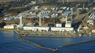Verdächtiger  Dampf über dem AKW Fukushima
