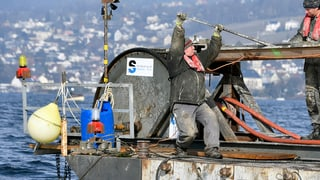 Wie man eine Hochspannungsleitung aus dem Zürichsee fischt