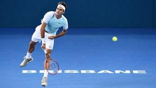 So lief Federers Viertelfinal in Brisbane