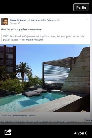Der private Pool der Honeymoon-Suite von Marco Fritsche und seinem Partner in Kapstadt