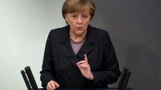 Merkel: «Militärisch ist der Krim-Konflikt nicht zu lösen»