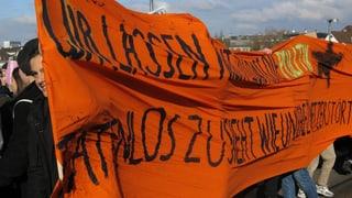 Basler Schüler gehen wieder für die Umwelt auf der Strasse
