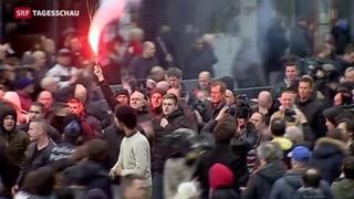 Hooligan-Randale in Brüssel entfacht politischen Streit