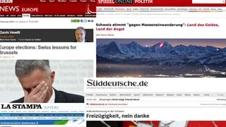 Ausländische Medien: «Schweizer könnten teuer dafür bezahlen»