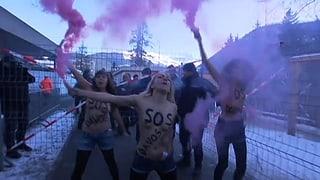 WEF-Protest auf Sparflamme