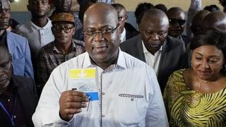 Bei der Präsidentenwahl im Kongo ist der Oppositionskandidat Félix Tshisekedi unerwartet zum Sieger erklärt worden.