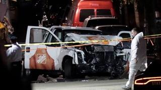 Ein Einzeltäter rast in New York in eine Menschenmenge – Acht Menschen werden dabei getötet. Was wir bisher wissen.