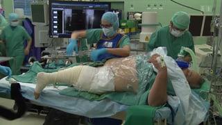 Ein Fussgelenk ersetzt das Knie