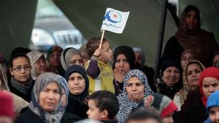 Anhänger der Ennahda-Partei auf der Strasse