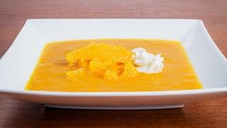 Rolfs Suppentraum: Rüebli Ingwersuppe mit frischen Orangen