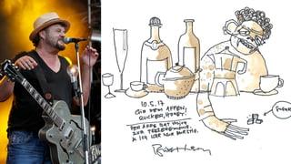 Musiker und Maler: So sieht die Kunst von Büne Huber aus