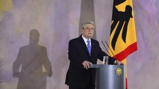 Gauck: «Europa braucht keine Zauderer, sondern Zupacker»