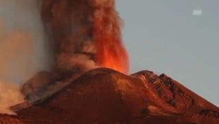 Vulkan Ätna speit wieder Feuer
